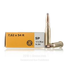 Sellier and Bellot 7.62x54r Ammo - 20 Rounds of 180 Grain SP Ammunition #762x54r #762x54rAmmo #SellierandBellot #SellierandBellotAmmo #SellierandBellot762x54r #SPAmmo