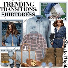 """""""Trending Transitions: Shirtdress"""" by maddycruise on Polyvore"""