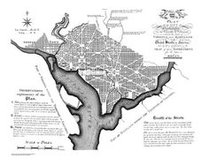 Map for the City of Washington 1792 by HyannisMarina on Etsy