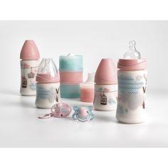 #Welcome #Babyset #Suavinex - Coffret #naissance rose contenant 2 biberons 270ml avec tétine 3 vitesses, 2 biberons 150ml tétine débit lent, 1 #sucette 2-4 mois en silicone, une attache-sucette et un #doseur de lait assorti. #bébé #biberon #puériculture #cadeau