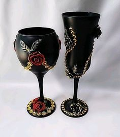 Wedding Glasses, Baby Sewing, Wine Glass, Champagne, Vase, Crystals, Bottle, Tableware, Diy