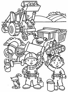 Bob The Builder And Friends For Coloring Pages bob the builder preparing to start work zeichnen Bob The Builder Coloring Pages. Considering the interesting images down below, you would get some inspirations and ideas for creating a coloring book . Cute Coloring Pages, Cartoon Coloring Pages, Coloring Pages To Print, Coloring Pages For Kids, Coloring Sheets, Adult Coloring, Coloring Books, Kids Coloring, Kids Bob
