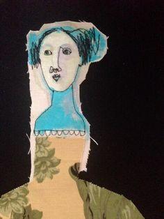 Just beginning to stitch this strange lady... mrsbertimus.blogspot.com