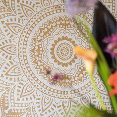 Beautiful Interiors, Hippie Style, Mandala, Store, Gold, Larger, Shop, Mandalas, Yellow