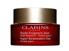 Clarins Super Restorative Day Cream All Skin Types Clarins Super Restorative Day Cream All Skin Types Replenishing anti-ageing for glowing skin An intensive replenishing cream that meets the specific needs of skin challenged by hormonal changes due to http://www.MightGet.com/january-2017-12/clarins-super-restorative-day-cream-all-skin-types.asp