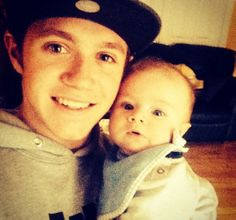 One Direction's Niall Horan and his nephew Theo Horan!