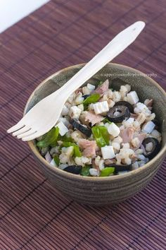 Insalata di orzo con tonno, olive e rucola- by Appetitosando