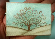 Hey, I found this really awesome Etsy listing at https://www.etsy.com/listing/104011562/tree-of-life-aceo-teal-brown-bronze