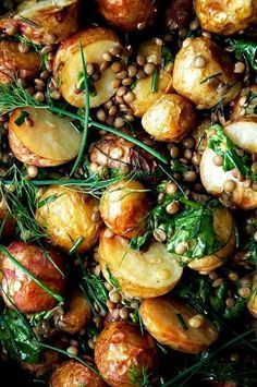 Low Carb Recipes To The Prism Weight Reduction Program Roasted New Potato Salad With Lentils Herb Dressing Occasionally Eggs Plant Based Recipes, Veggie Recipes, Whole Food Recipes, Vegetarian Recipes, Cooking Recipes, Healthy Recipes, Super Food Recipes, Medeteranian Recipes, Lentil Salad Recipes