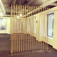 Just installed three rope walls with gas pipe mounts, great way to divide and define space! Deco Restaurant, Space Dividers, Wall Dividers, Diy Room Divider, Partition Design, Ideas Hogar, Interior Decorating, Interior Design, Office Interiors