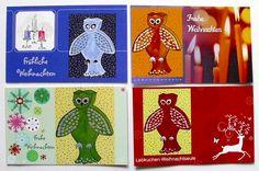 KC19 Weihnachtslieder  - Weihnachtskarten von tierisch-gelungen auf DaWanda.com