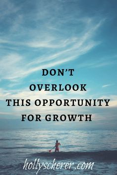 Don't Overlook This Opportunity for Growth - Holly Scherer