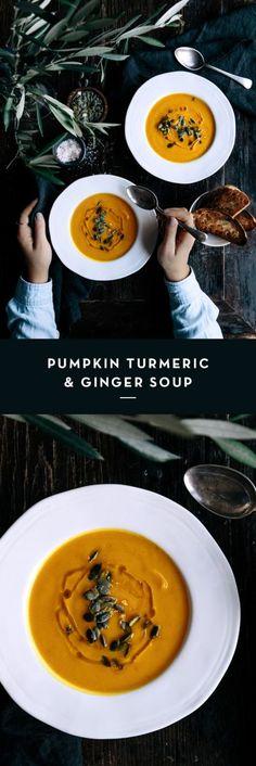 Pumpkin, Turmeric & Ginger Soup  |  Gather & Feast