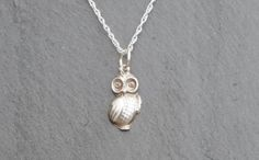 This cute and quirky little owl pendant has been handmade by me in my workshop here in Cornwall. Because of the nature of the process, you can be sure of receiving a unique piece of jewellery which is sure to liven up any outfit!