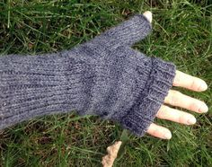 Picture of Knitted Fingerless Mittens on a Circular Sock Machine