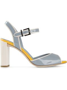 Shop Fendi block heel sandals in Biffi from the world's best independent boutiques at farfetch.com.