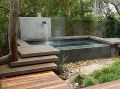 jacuzzi, got houzz link Hot Tub Backyard, Hot Tub Garden, Small Backyard Pools, Backyard Patio, Small Swimming Pools, Small Pools, Swimming Pools Backyard, Lap Pools, Indoor Pools