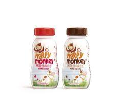 Dew Gibbons' Happy Monkey milkshake packaging