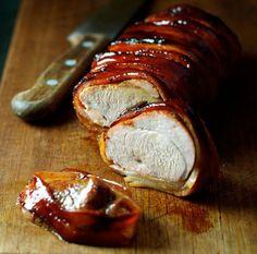 Recette facile de filet de porc enroulé dans le bacon!