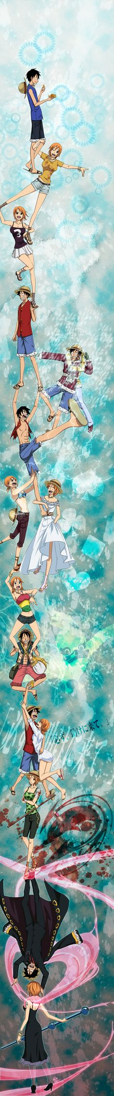 Ending - Trust me - One piece : Luffy & Nami Nami One Piece, One Piece Ship, Luffy X Nami, Fairy Tail Love, The Pirate King, One Piece Pictures, One Piece Fanart, Monkey D Luffy, Durarara