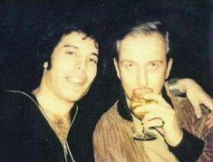 Freddie Mercury and his doctor Gordon Atkinson 1977/78 probably.