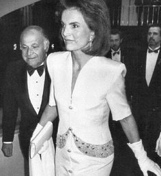 Jackie and Maurice Templesman. She spent more years as his partner than the JFK and Onassis years put together. Templesman's wife refused to give him a divorce, so they never married. He was the one man she knew was always faithful to her.