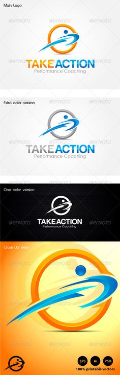 Take Action Coaching Logo Design Template Vector #logotype Download it here: http://graphicriver.net/item/take-action-coaching/4611263?s_rank=1243?ref=nexion