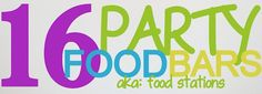 DIY Food & Recipe For Party : 16 Party Bar Ideas