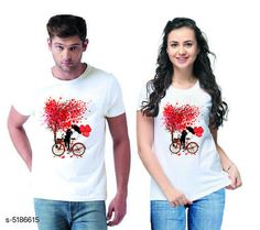 Couple Tshirts Stylish Printed Couple T-shirts  Fabric: Men Tshirt - Cotton  Women Tshirt - Cotton  Sleeves: Half Sleeves Are Included Size: Women Tshirt - S- 36 in M- 38 in L- 40 in XL- 42 in XXL- 44 in Men Tshirt - S M L XL  XXL(Refer Size Chart)  Length: Women Tshirt - Up to 22 in Men Tshirt -  S M L XL  XXL(Refer Size Chart)  Type: Stitched Description: It Has 1 Piece Of Men's T-shirt & 1 Piece Of Women's T-shirt Work - Printed Country of Origin: India Sizes Available: MEN - S/ WOMEN - S, MEN - M/ WOMEN - S, MEN - L/ WOMEN - S, MEN - XL/ WOMEN - S, MEN - XXL/ WOMEN - S, MEN - S/ WOMEN - M, MEN - M/ WOMEN - M, MEN - L/ WOMEN - M, MEN - XL/ WOMEN - M, MEN - XXL/ WOMEN - M, MEN - S/ WOMEN - L, MEN - M/ WOMEN - L, MEN - L/ WOMEN - L, MEN - XL/ WOMEN - L, MEN - XXL/ WOMEN - L, MEN - S/ WOMEN - XL, MEN - M/ WOMEN - XL, MEN - L/ WOMEN - XL, MEN - XL/ WOMEN - XL, MEN - XXL/ WOMEN - XL, MEN - S/ WOMEN - XXL, MEN - M/ WOMEN - XXL, MEN - L/ WOMEN - XXL, MEN - XL/ WOMEN - XXL, MEN - XXL/ WOMEN - XXL   Catalog Rating: ★4.1 (501)  Catalog Name: Stylish Printed Couple T-shirts CatalogID_766848 C79-SC1940 Code: 444-5186615-0111