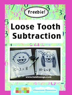 Loose tooth subtraction and shark teeth addition Subtraction Kindergarten, Subtraction Activities, Kindergarten Math Activities, Homeschool Math, Fun Math, Teaching Math, Numeracy, Math Games, Number Activities