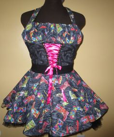 Beautiful fun apron designed in parlor maid style by byemilyrose, $85.00