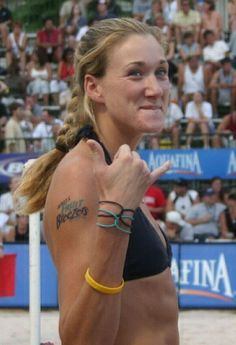 "Meet the extraordinary Kerri Walsh Jennings. A professional beach volleyball player and philanthropist who is most famous for winning the gold medals in the 2004, 2008 and 2012 Summer Olympic Games with her partner Misty May-Treanor. ""I would do whatever it takes just to keep playing and getting better"". Kerri Walsh Jennings http://www.thextraordinary.org/kerri-walsh-jennings"
