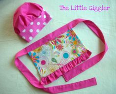 The Little Giggler: The Little Chef Hat & Apron Lotsa Tuts here Bee Crafts, Sewing Crafts, Sewing Projects, Sewing Diy, Sewing Ideas, Diy Pencil Case, Pencil Pouch, Vera Bradley, Chef Hats For Kids