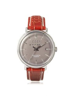 CCCP Men's 7019-03 Heritage Brown/Gray Stainless Steel Watch at MYHABIT