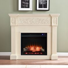 Classic Fireplace, Faux Fireplace, Fireplace Inserts, Fireplace Mantels, Fireplace Remodel, Fireplace Ideas, Fireplace Design, Fireplace Frame, Country Fireplace