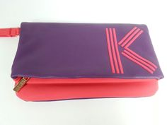 Kenzo Parfums Makeup Cosmetic Clutch Bag Pouch Purple Red #Kenzo