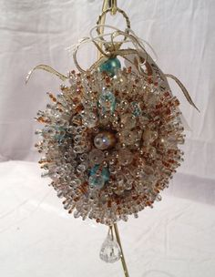 Exquisite Beadwork Ornament with vintage jewels and by PHBeadworks, $175.00