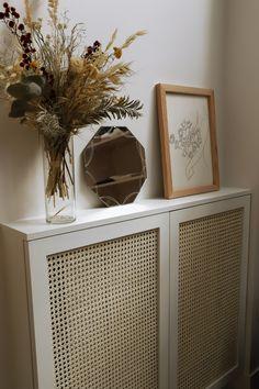 Interior Design Inspiration, Home Interior Design, Interior Decorating, Diy Radiator Cover, Cane Furniture, Diy Wall Decor, Home Decor, Deco Design, New Room