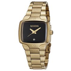 Nixon Women's 'The Small Player' Goldplated Watch | Overstock.com