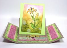 Gate Fold Easel Card - Interesting Idea.
