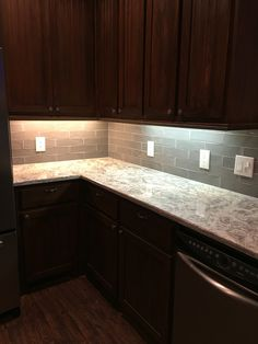 New backsplash and granite