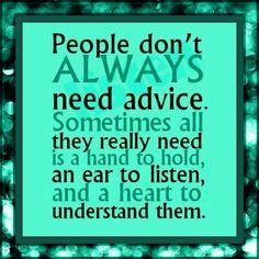 Advice not always necessary