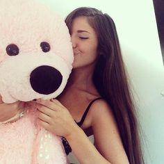 Giant pink teddy bear ♡
