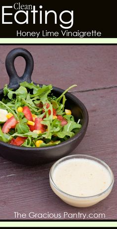 Clean Eating Honey Lime Vinaigrette. #CleanEating