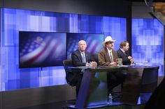 FILE - In this April 29, 2017, file photo, three candidates, from left, Republican Greg Gianforte, Democrat Rob Quist and Libertarian Mark Wicks vying to fill Montana's only congressional seat await the start of their only televised debate in Great Falls, Mont. Montana voters are heading to the polls Thursday, May 25, 2017, to decide a nationally watched congressional election amid uncertainty in Washington over President Donald Trump's agenda and his handling of the country's affairs. (AP…