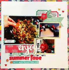 Page Ideas for Scrapbooking Your Food | Nicole Mackin | Get It Scrapped