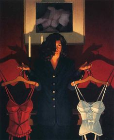 Jack Vettriano, OBE is a Scottish painter. His 1992 painting, The Singing Butler, became a best-selling image in Britain. For biographical notes -in english and italian- and other works by Vettriano see: Jack Vettriano, 1951 Jack Vettriano, Alice Liddell, The Singing Butler, Billy Crystal, Camille Claudel, Edward Hopper, Edward Weston, Bill Cosby, Annie Leibovitz