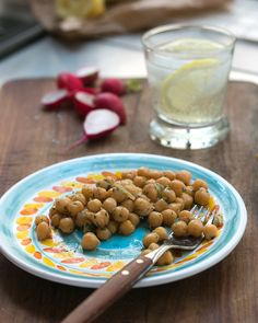 Chickpea, lemon, and mint salad recipe | davidlebovitz.com