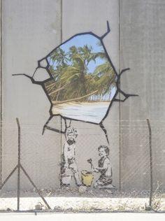 Banksy Apartheid   #banksy - more streetart @ www.streetart.nl