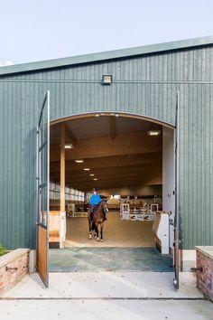indoor riding arena entrance